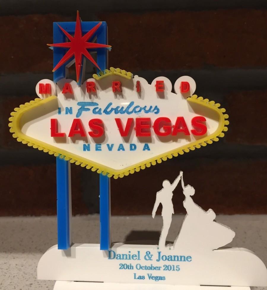 Personalised Las Vegas Wedding Cake Topper 2525082 Weddbook
