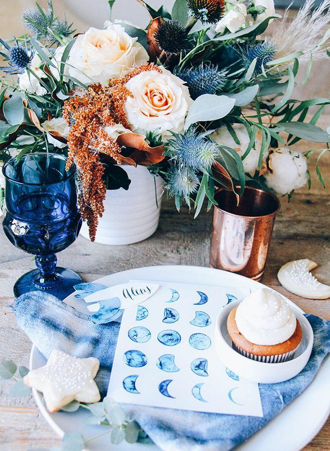 Wedding Theme Moon Themed Indigo Baby Shower 2525167 Weddbook
