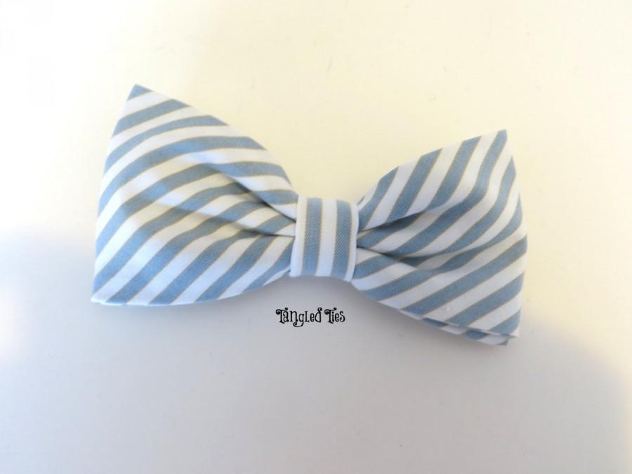 Mariage - Grey Blue Bow Tie, Wedding Bow Tie, Slate Blue Bow Tie, Slate Blue Wedding