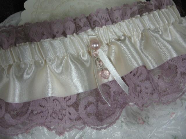 Свадьба - Victorian Ivory and Pink Garter