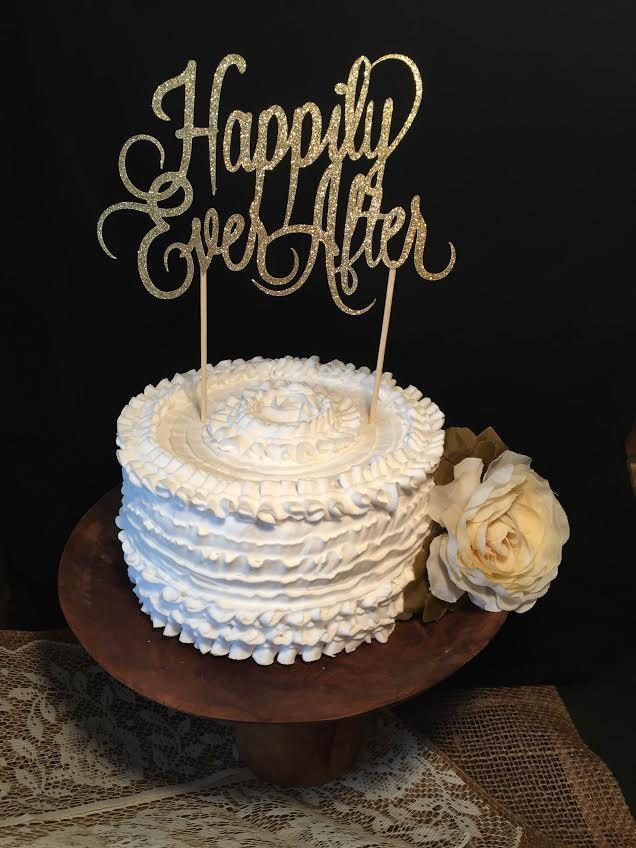 Mariage - Happily Ever After Cake Topper