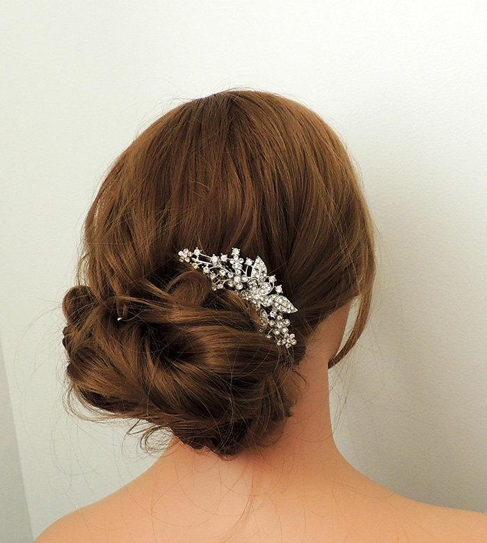 Mariage - Claire - Pearl and crystal wedding hair comb, bridal hair comb, wedding accessory,  hair accessory, crystal hair clip