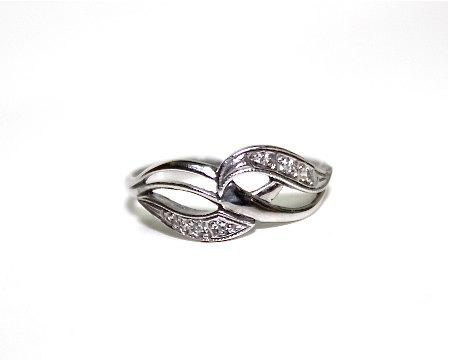 Mariage - Engagement Ring Sterling silver Diamond Vintage Infinity Wedding Ring 6.5