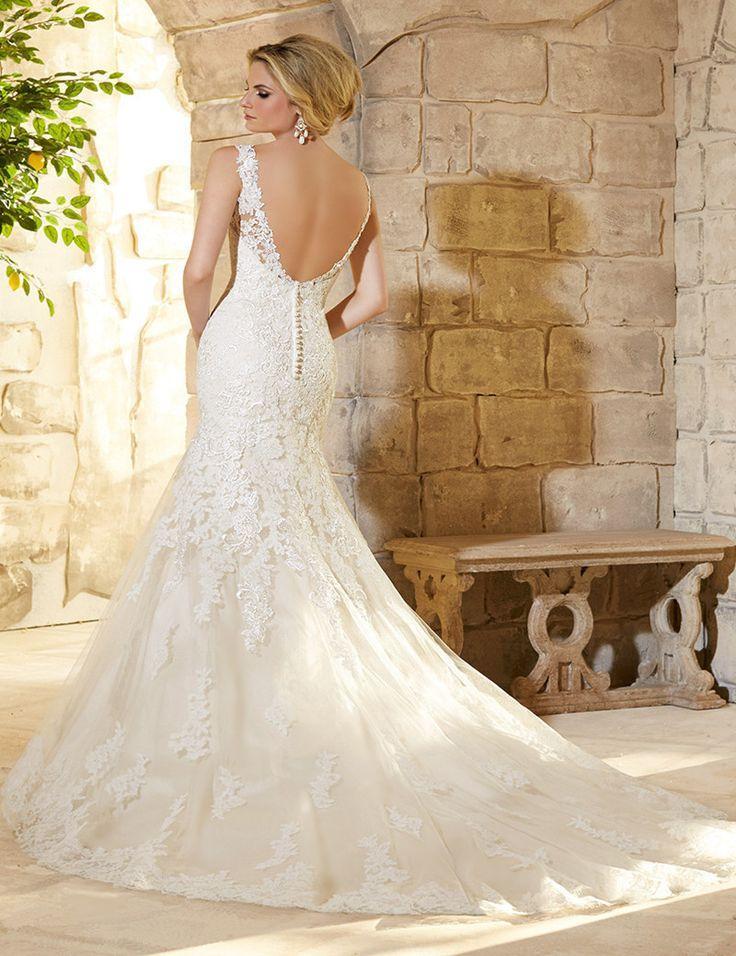 Boda - Beautiful Applique Long Mermaid Wedding Dress