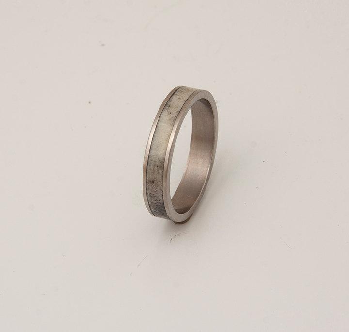 Mariage - titanium antler ring antler wedding band