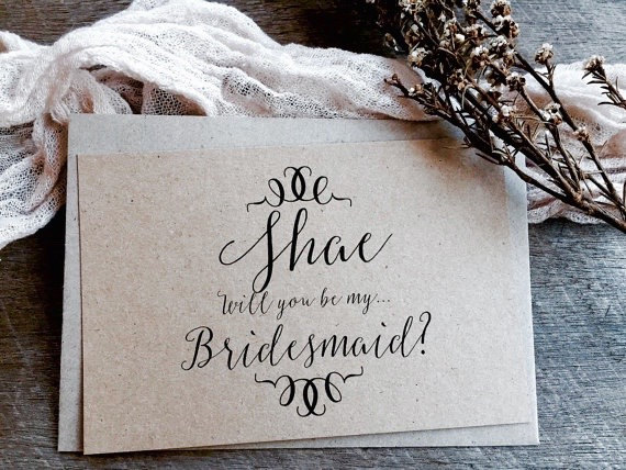 Hochzeit - Will you be my Bridesmaid Card, Flower Girl Card, Maid of Honour Card