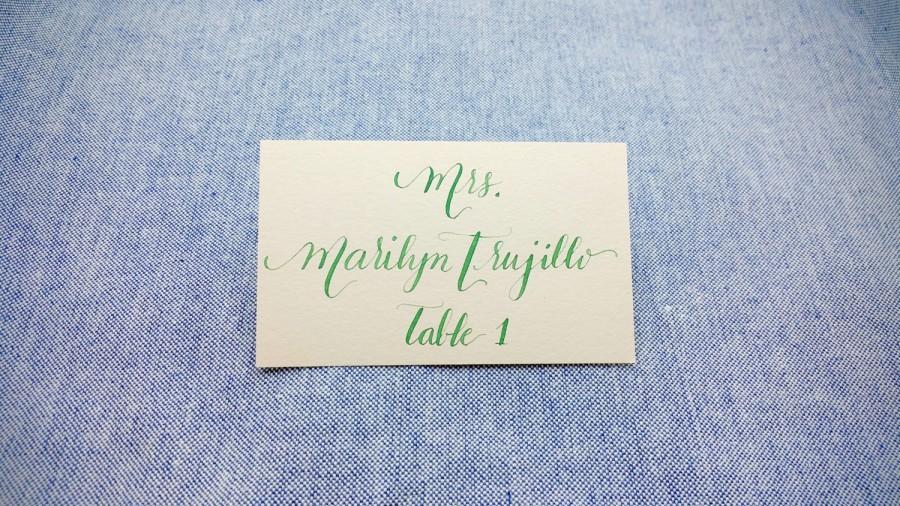 Hochzeit - Calligraphy Service Place Cards Escort Cards - Handwritten for Modern Weddings