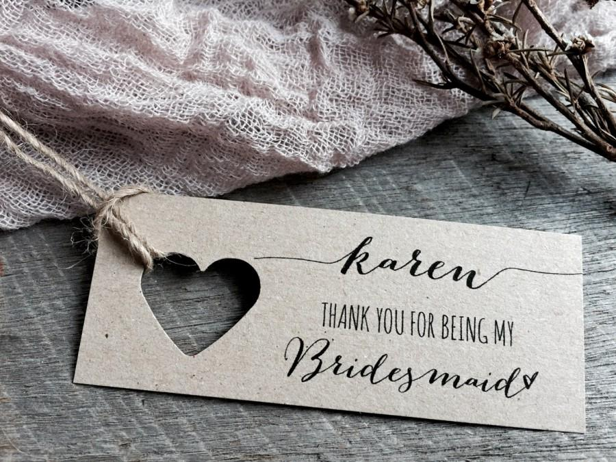 Hochzeit - Thank you for being my bridesmaid, thank you for being my maid of honour, thank you for being my maid of honor, thank you tags, bridesmaid