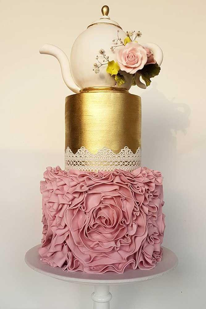 Elegant Rose Wedding Cakes