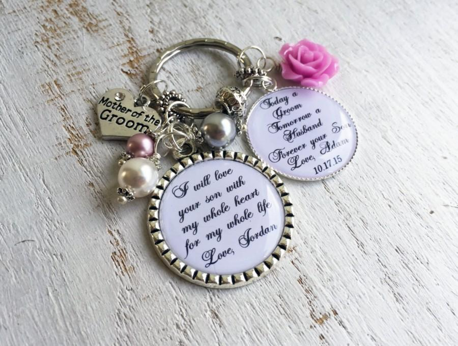 Свадьба - Mother of the GROOM Keychain Mother of the GROOM gift Mother of the Bride Keychain Mother of the Bride Gift Mother in Law Gift Wedding Gifts