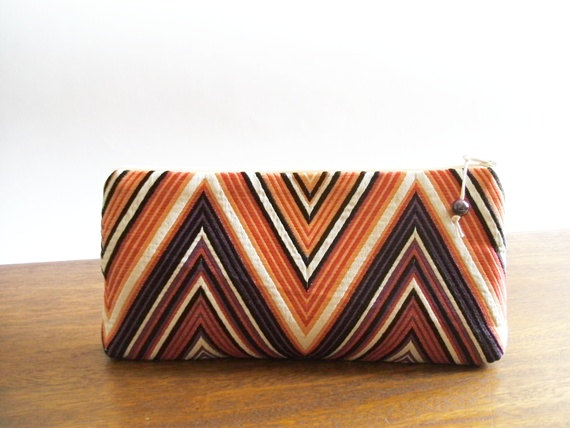 Mariage - Mother of the Bride Gift Idea, Purple Clutch for Mother, Chevron Fashion Purse Mothers Gift, Mother Anniversary Gift