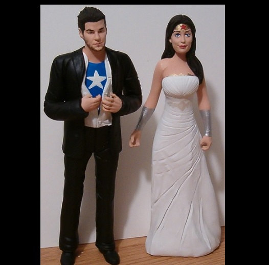 Mariage - Unique Wedding Cake Toppers Figure set - Custom Made to Your Choice