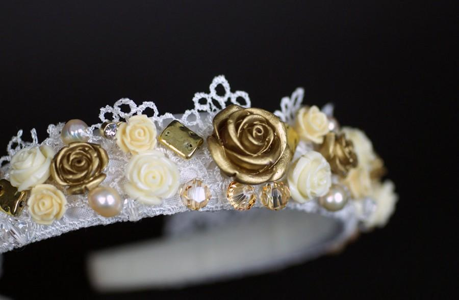 Свадьба - Baroque Headband-Bridal Headpiece-Bridal headband-Wedding Headband-Wedding headpiece-Flower girl Headband-Bridesmaid Headband-H3