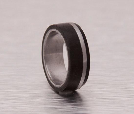 titanium ring wood wedding bands mens wedding