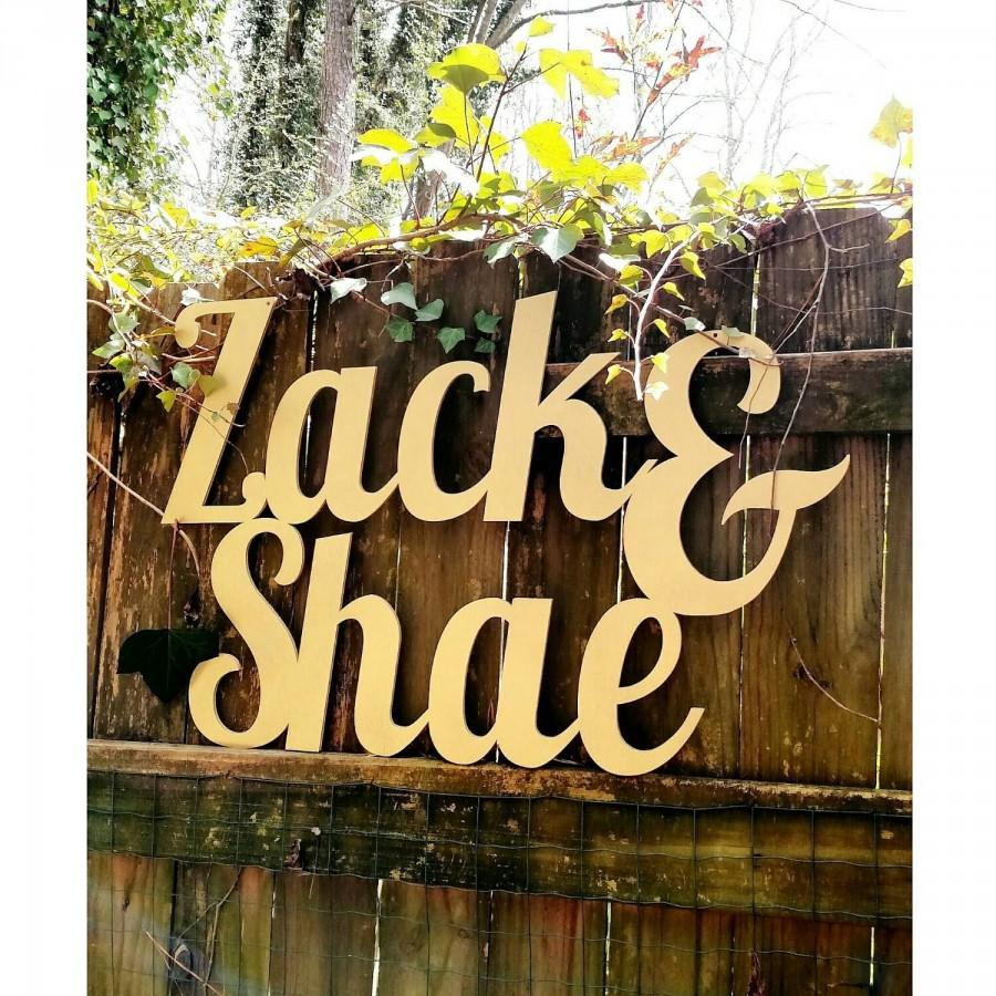 Hochzeit - Custom sign - Couple's name sign- Large Wedding & Party Decor