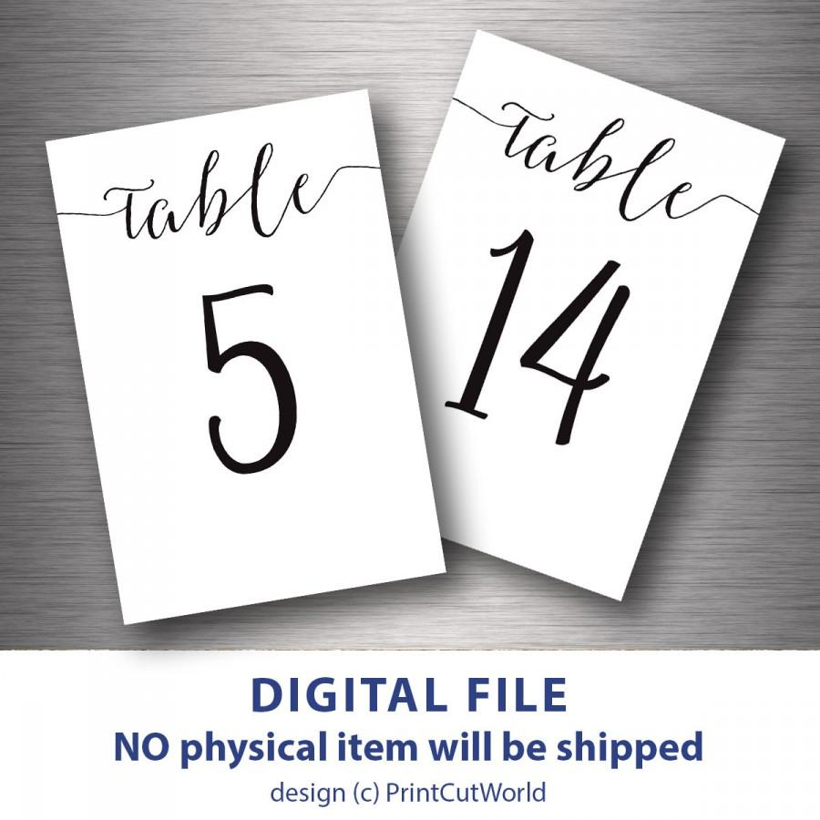 image regarding Diy Printable Table Numbers identify Desk Figures Printable 4x6 Clic Wedding day Desk Variety 1
