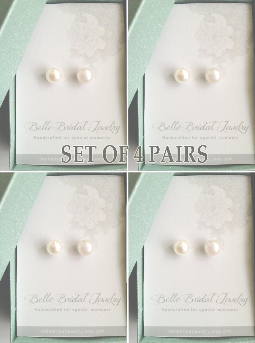 in cultured silver wholesale from with classic button stud earrings near genuine natural round item freshwater china pearl real studs to aaa jewelry