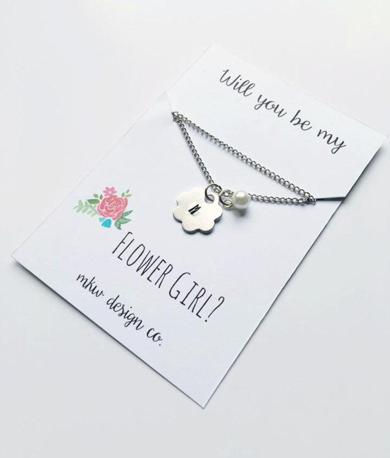 Will You Be My Flower Girl Gift / Flower Girl Necklace Gift ...