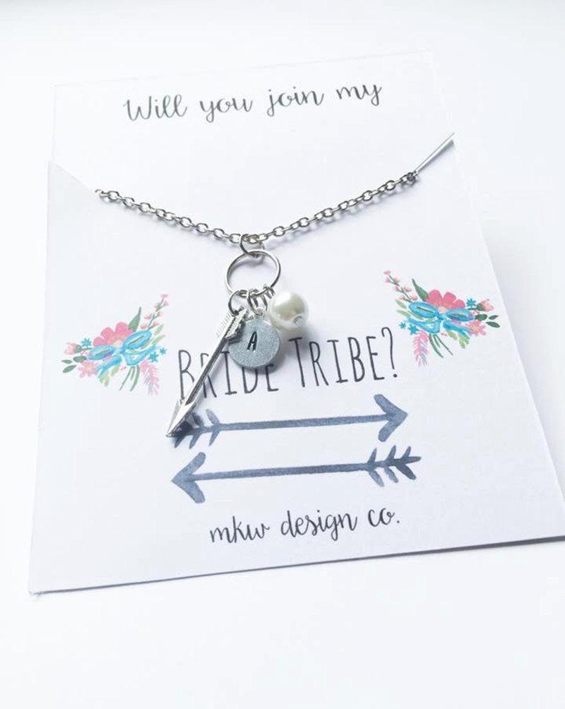 Свадьба - Bride Tribe Jewelry / Will You Be My Bridesmaid / Will You Be My Maid of Honor / Bridesmaid Gift Idea / Maid of Honor Gift Idea