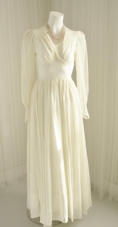 Wedding - Silk Rayon Georgette and Lace Negligee Alternative Wedding Dress