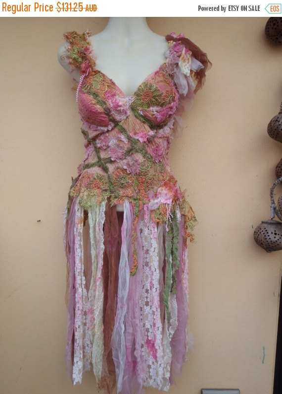 """Wedding - 20%OFF pixie bohemian gypsy woodland bustier top..,,small to 38"""" bust..."""