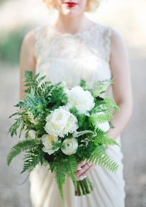 Wedding - Ferns In Wedding Flowers And Bouquets: In Season Now