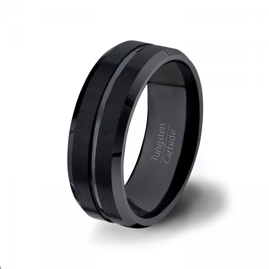 loyalty symbol of unique mens wedding bands black mens wedding bands Image of unique tungsten mens wedding bands