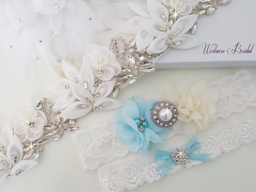 Wedding - Wedding Accessories, Bridal Accessories, Bridal Belt, Bridal Garter Set