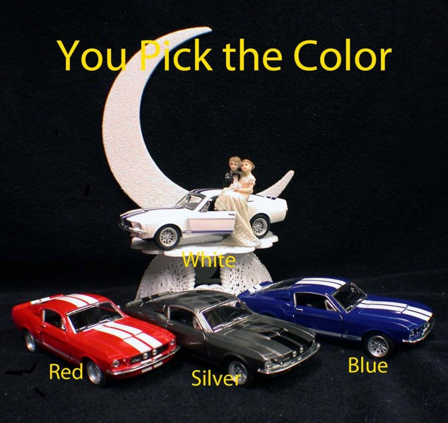 Mariage - Ford Shelby Mustang Mechanic Auto Wedding groom CAKE top Topper Racing Mussel Car Sport tools