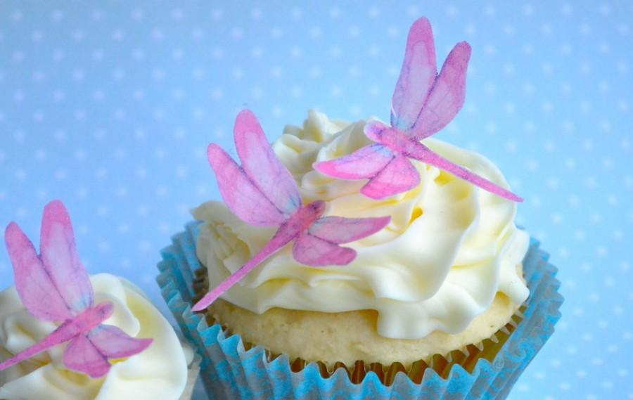 Wedding cake topper mini edible dragonflies in pink cake cupcake wedding cake topper mini edible dragonflies in pink cake cupcake toppers food accessories junglespirit Image collections