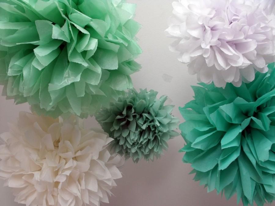 Wedding - Minty Fresh ... 5 Poms // Easter // Spring // Wedding // Party //