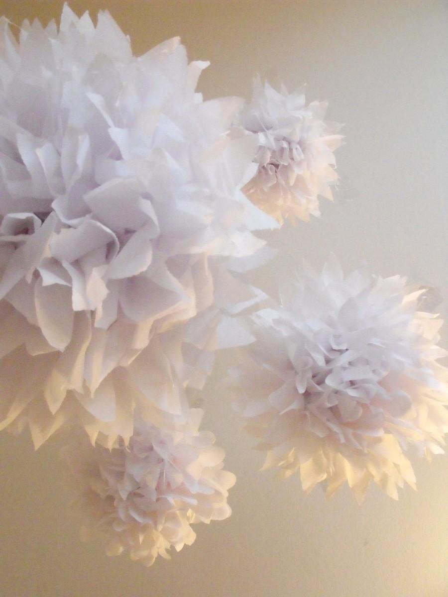 Mariage - Pure White ... 5 Poms