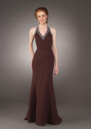 Wedding - Brown Chiffon Dress