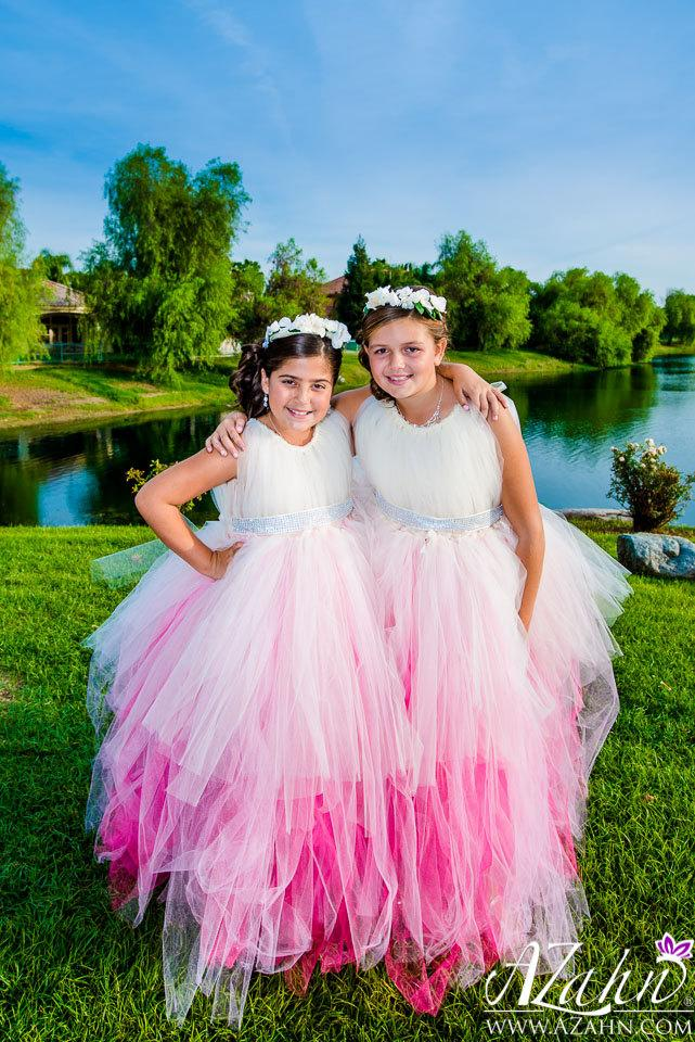 Wedding - Ombre Diamond Dress - Flower Girl Dress