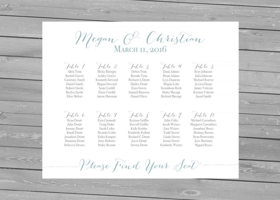 printable seating chart printable wedding seating chart alphabetical seating chart wedding decoration wedding seating