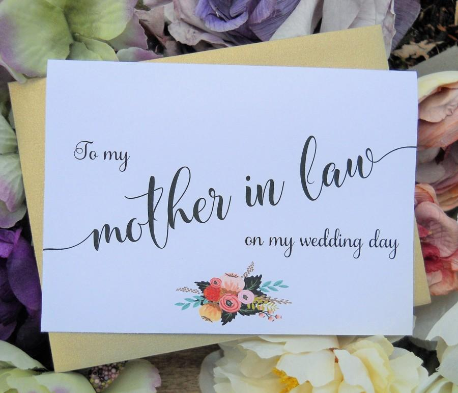 To My Mother In Law Card Wedding Party