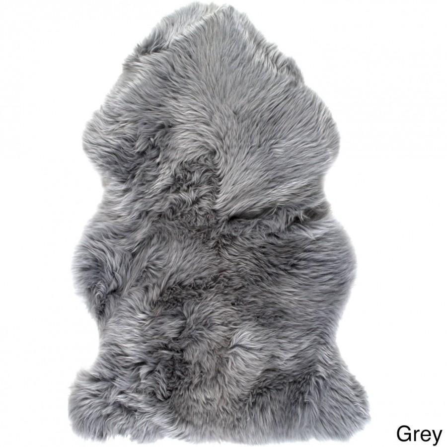 Large Grey Sheepskin Rug Single Pelt 2 X 3 Sevenhills