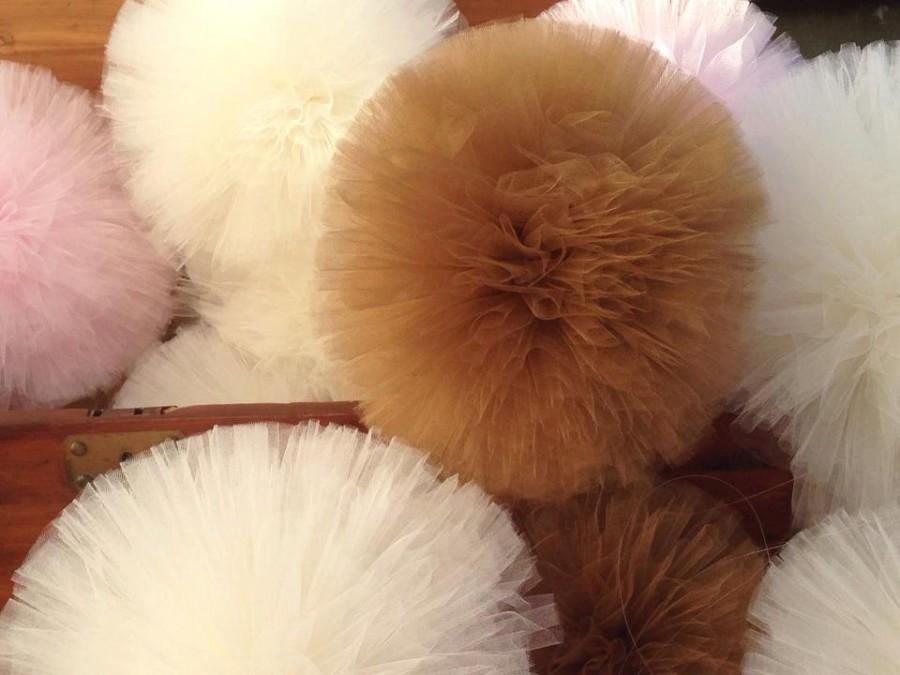 Mariage - 20 inch Tulle pompoms Party Decoration tulle pom pom