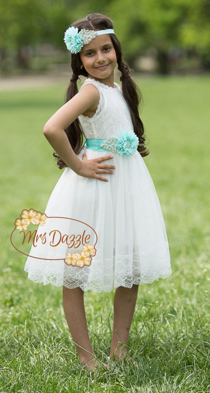 Flower Girls Dresswhite Flower Girl Dress Lace Flower Girl Dress