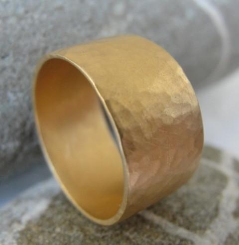 زفاف - Wedding Band - Gold Wedding Ring - Gold Band - Gold Hammered Ring - Hammered Wedding Band - 14k Yellow Gold Flat Hammered Band