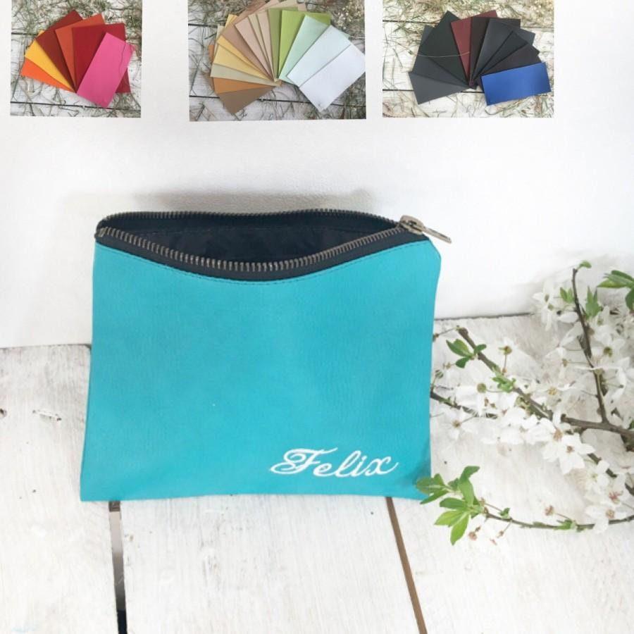 Свадьба - Personalized Bridesmaid gift idea personalized graduation gift idea personalized bridesmaid clutch  Bridal Party Gifts turquoise wedding