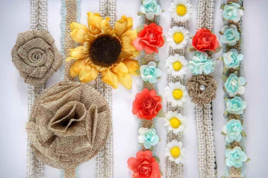 Hochzeit - Country Rustic Headbands - Choose 4!