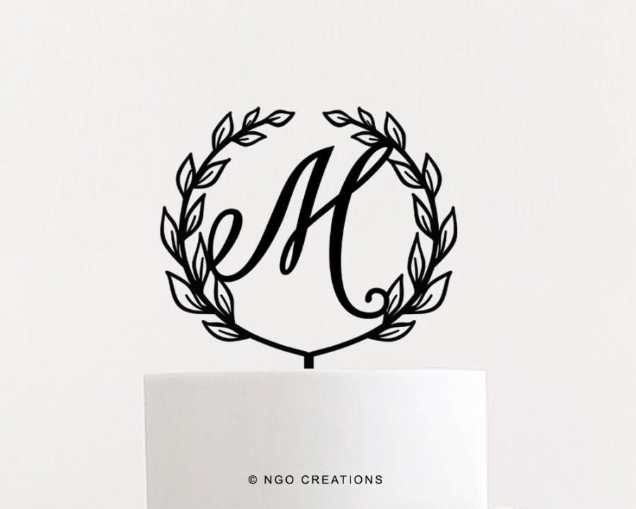 Mariage - Initial Wedding Cake Topper