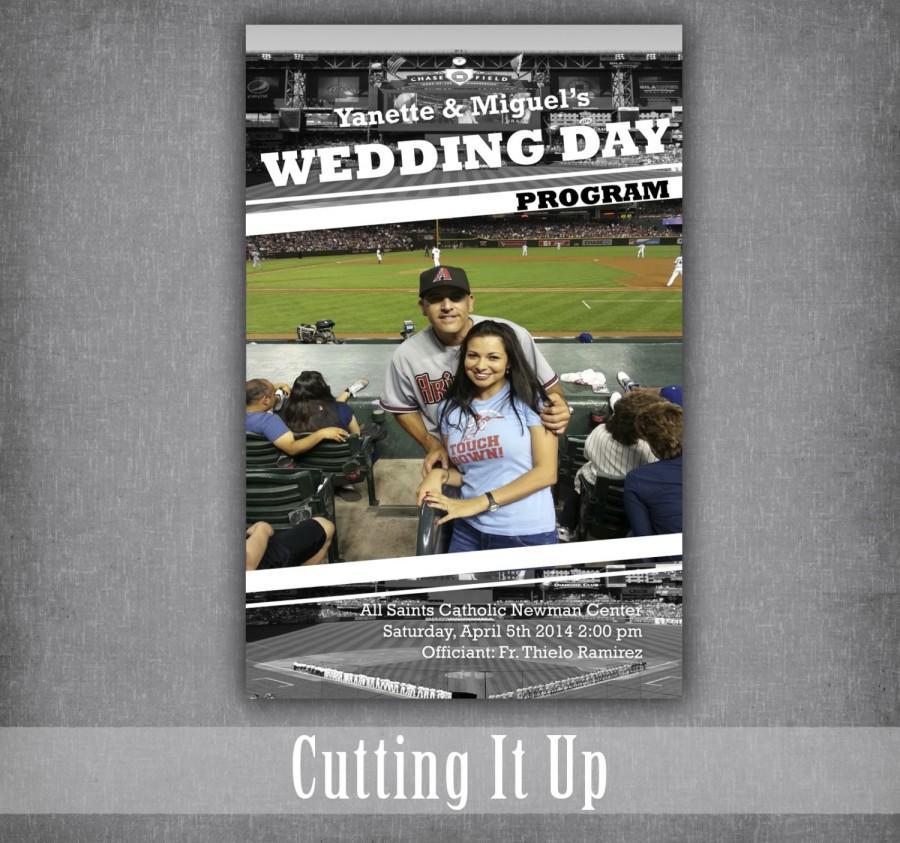 Mariage - Baseball Wedding Program, Fun Wedding Programs, Baseball Wedding, Softball Wedding, Sports Wedding, Wedding Program Booklet, Arizona, Photo