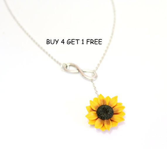 Sunflower infinity lariat necklace yellow sunflower bridesmaid sunflower infinity lariat necklace yellow sunflower bridesmaid sunflower flower necklace bridal flowers sunflower bridesmaid necklace mightylinksfo