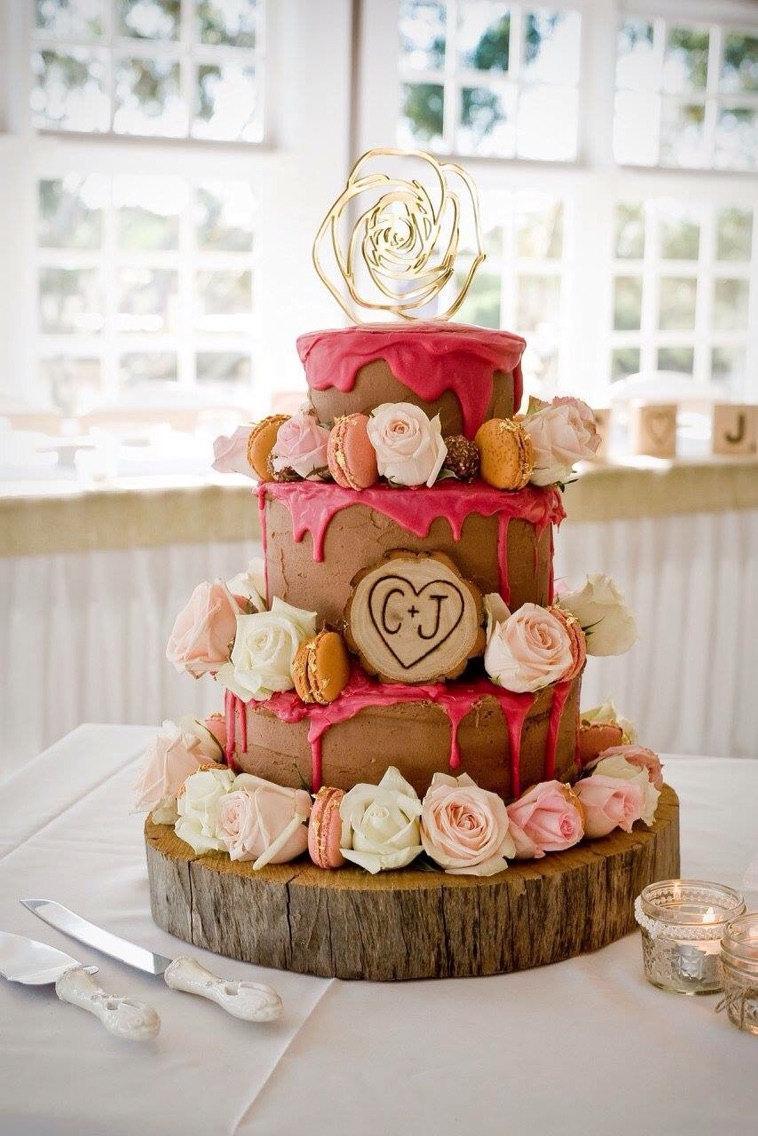 Свадьба - Gold Cake Topper Wedding or Party Boho Geometric Woodland Cake Topper for Rustic Modern Boho Party Cake Decoration  ( Item - GFH800 )