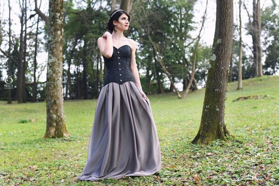 Wedding - Bohemian romatic gothic chiffon long skirt