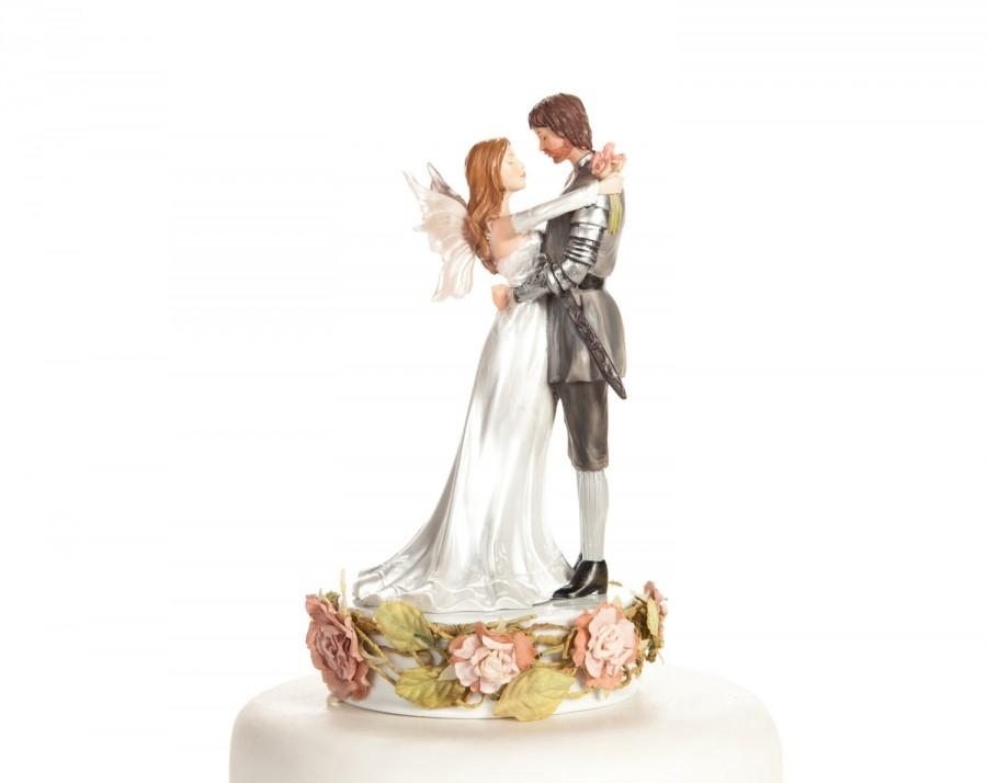 Свадьба - Paper Roses Fantasy Fairy Wedding Cake Topper - Custom Painted Hair Color Available - 101660
