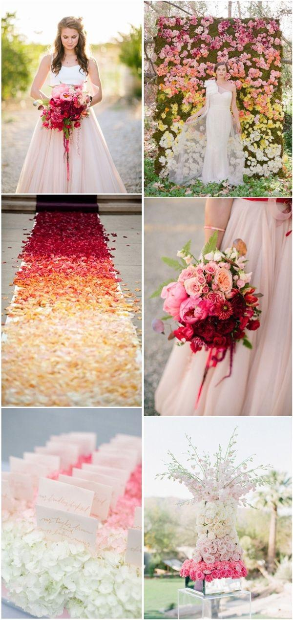 Свадьба - 30 Totally Breath-taking Ways To Use Ombre Wedding Flowers