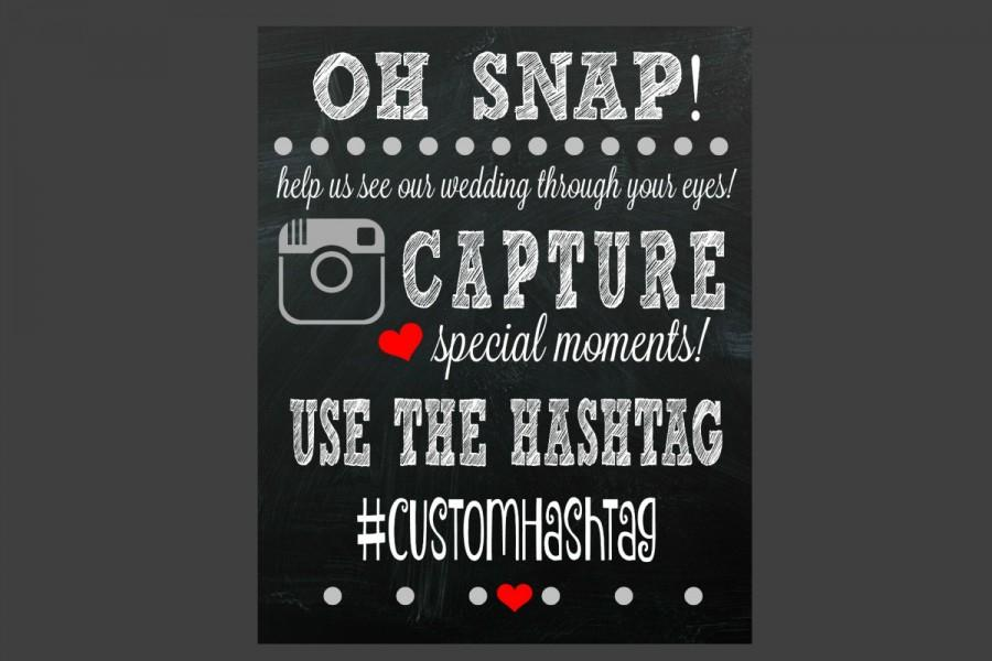 Hochzeit - Social Media Hashtag Sign - Wedding Sign - Printable - If You Hashtag - Hashtag - Wedding Decor - Wedding Ideas - Share Photos - Hashtag